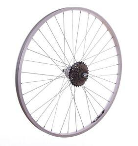 "26"" REAR Alloy Mountain Bike / Cycle Wheel + 7 Speed SHIMANO Freewheel"