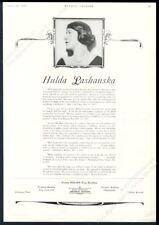 1928 Hulda Lashanska photo singing recital tour booking Carnegie Hal reviews ad