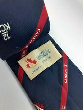 Canadas Americas Cup Challenge 1987 Canada II Yacht Crew Necktie 12 KC2 Vintage