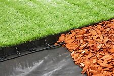 Plastic Garden Grass Lawn Edge 10m + 30 Pegs Flexible Edging Border 58mm Height