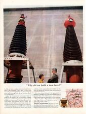 Vintage advertising print Gas Oil Ethyl Corp Tennessee Valley Fontana Dam Why ad