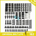 Black 162Pcs Fairings Bolt Kit Fastener Nuts Screws for VFR 800 750 1200 400