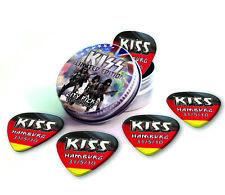 Hamburg City X 5 Kiss Guitar Picks Collection In Tin