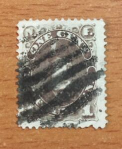 Stamps Canada Newfoundland Sc43 1c brown Prince of Wales of 1896 See description