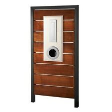 REAL MERBAU TIMBER PANEL Letterbox INCLUDES Mailbox, Panel, Anchor Posts & Keys