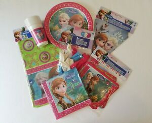 Disney Frozen Party Supplies Dine and Decorate Bundle