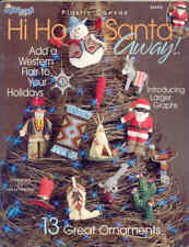 Hi Ho Santa Away ~  Plastic Canvas Book ~ Western Ornaments ~ TNS