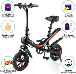 OUXI V1 Electric Bike Folding 350w 7.8AH Battery 12Inch Tyres Foldable E Bicycle