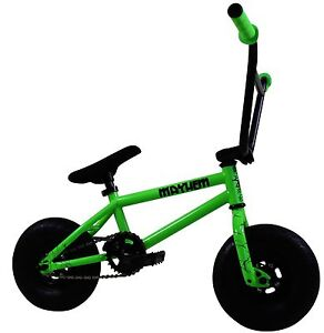 "Mayhem Riot Mini 10"" BMX Bicycle Freestyle Tire Bike Fat Boy Toxic Green NEW"