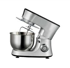 Cake Stand Mixer Baking Dough Beater Food Mix Electric Whisk Mixing Bowl Silver