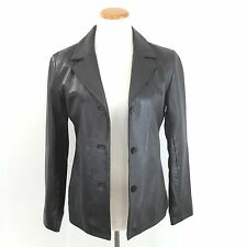 LEATHER LIMITED Women's SUPER SOFT SUPPLE Black ITALIAN LEATHER JACKET Size S