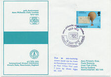 2467 1973 Jersey 3 P FDC used on Balloon Flight JERSEY – MANCHESTER