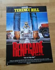 Terence Hill *Renegade, Lucky Luke*, original signed Poster 40x28 cm