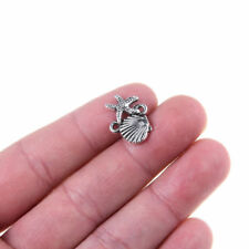 20PCS Tibetan Silver Beads Shell Starfish Sea Theme Charm Pendant 18*10mm