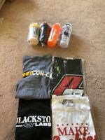 1 Shirt 2 Shaker 5 Supplement Sample Pack Pro Supps Blackstone Labs Redcon1 Pre