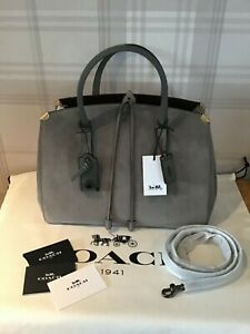 COACH Cooper Carryall Grey Suede Tote Bag RRP £650 BNWT
