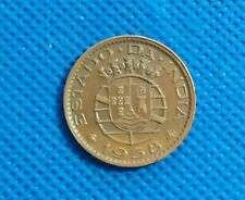 Rare Portuguesestate of  INDIA coin 30 centavos  1958