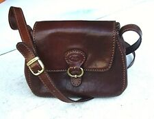 THE BRIDGE Echtleder TASCHE SCHULTERTASCHE Leather BAG cognac SATCHEL Vintage