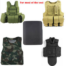 Bullet Proof Steel Plate Chest Protector Concealable Body Armor Outdoor Hunting