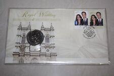 (PL) 2011 AUSTRALIA ROYAL WEDDING 50C UNC COIN - PNC STAMP & COVER MINT RAM