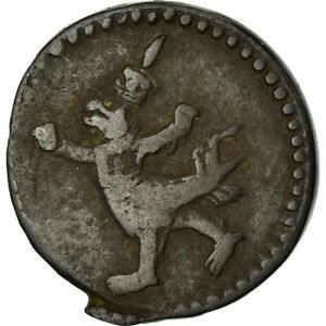 [#872985] Coin, Cambodia, 2 Pe, 1/2 Fuang, 1880, VF, Billon, KM:26