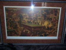 ORIGINAL PRINT SIGNED BY ARNOLD FRIBERG TITLED A GENTLEMANS FOURSOME WESTERN ART