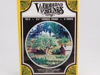 "HO 1/87 Scale Woodland Scenics Kit TK11 Forked Trunk 2-1/4"" Trees Set of 4"