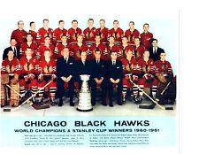 1960 1961 CHICAGO BLACK HAWKS 8X10 TEAM PHOTO WORLD CHAMPIONS STANLEY CUP HOF