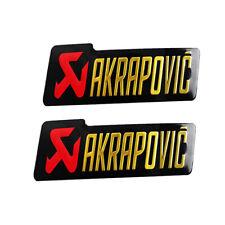 2PC Motorcycle Exhaust Pipe Sticker Heat-resistant Scorpio Akrapovic Decal Emble