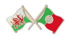 Portugal Flag & Wales Flag Friendship Courtesy Pin Badge