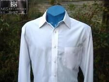 Marks and Spencer Men's No Pattern Cotton Blend Single Cuff Formal Shirts