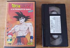 DRAGON BALL Z A LA POURSUITE DE GARLIC VOLUME 1 CASETTE VIDEO K7 VHS