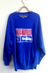 Vintage Indianapolis Motor Speedway Indy 500 Sweater Blue Mens Size: XL