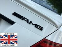 AMG BLACK REAR EMBLEM BADGE MERCEDES BENZ A B C E S CL SL ML CLK CLS SLK CLASS