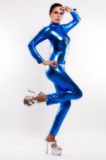 VERNIS / latex LOOK CATSUIT (combinaison,spécifier Complètement) Bleu