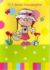 To A Special Granddaughter Cute Easter Card Embellished 3D Greeting Cards