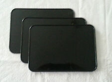 Three (3) BLACK VINTAGE TRIALS ENDURO ATV ATVA NUMBER PLATE 7 X 10 KART RM YZ Z