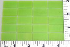 "20 Thin Opaque Green 1/2"" x 1"" Bullseye 90 Coe Glass Rectangles"