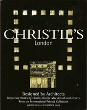 CHRISTIE'S Architect Design Mackintosh Hoffmann Chareau
