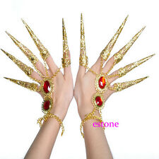 1pc Belly Dance Dancing Finger Cot Costume Indian Thai Golden Finger Jewelry