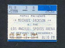 Original 1989 Michael Jackson concert ticket stub Los Angeles Bad Tour