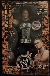 WWE WWF Limited Edition John Cena Action Figure JAKKS US Belt SEE DESCRIPTION