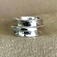 Solid 925 Sterling Silver Band Spinner Ring Jewelry Handmade All Size DO-201