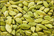 """India """"WHOLE GREEN CARDAMON PODS"""" Cardamom Indian Arabic Spices Food - 100g."""