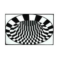 3D Swirl Print Optical Illusion Area Rug Carpet Floor Non-slip Doormat Pad K3J6