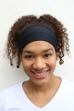 Women's Black Fitness Headband for Yoga, Running, Crossfit