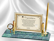 Graduation Gift For College High School Graduate Poetry Clock Marble Pen Parents
