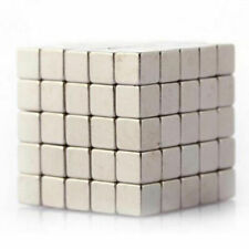100Pcs Magic Cube Magnets 3mmx3mmx3mm Cube N35 Super Strong Rare Earth Magnet L