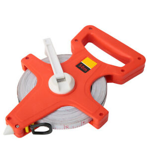50m Thickened Hand Stainless Steel Open Reel Tape Measuring Ruler Tool Hot
