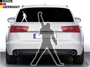 1x Freddie Mercury Aufkleber Auto Sticker Silhouette Kult Portrait Musiker 15x25